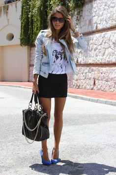 Cómo combinar faldas negras - Trendtation