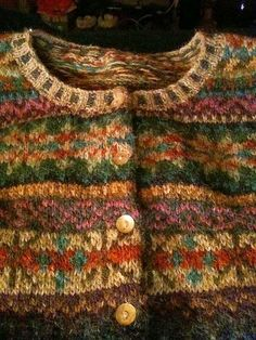 pattern by Marie Wallin Warm, wonderful autumn colours. Does anyone know a source for this pattern and yarn? Does anyone know a source for this pattern and yarn? Tejido Fair Isle, Punto Fair Isle, Motif Fair Isle, Fair Isle Pattern, Rowan Knitting, Fair Isle Knitting, Hand Knitting, Knitting Patterns, Vintage Knitting