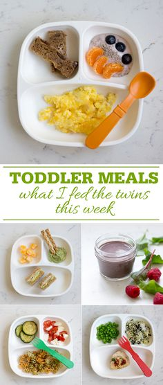 Toddler Meals: What I fed the twins this week.