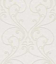 Non-woven wallpaper Rasch ornament cream white Wallton 341003 (3,33£/1qm)
