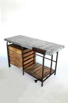 BRUSSELS VINTAGE INDUSTRIAL WORK TABLE ブリュッセル ヴィンテージ インダストリアル ワーク テーブル