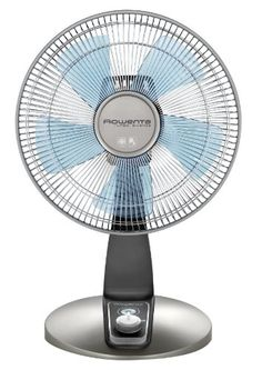 I've got this one.  It's quiet.   Rowenta VU2531 Turbo Silence 4-Speed Oscillating Desk Fan, 12-Inch, Bronze Rowenta http://www.amazon.com/dp/B00C4QP8KU/ref=cm_sw_r_pi_dp_zpk0vb10J2TCB