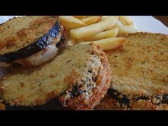 (7989) COTOLETTE DI MELANZANE RIPIENE FRIGGITRICE AD ARIA - YouTube Aria, Actifry, Salmon Burgers, Food And Drink, Cooking, Ethnic Recipes, Desserts, Youtube, Kitchen