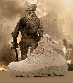 Men s Outdoor Desert Combat Ankle Boots Military Tactical Footwear Hiking  Shoes Medium (d M) Suede Solid China Slip Resistant Waterproof Eur 45 Lace  Up ba6669465