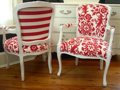 French Arm Chairs by ChairWhimsy on Etsy, $700.00
