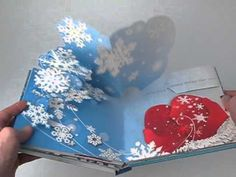 Grandin Road - Snowflake Pop-up Book - YouTube