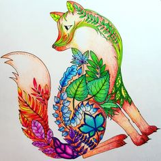 Johanna Basford | Picture by Iris Tung 56 color Colleen color pen| Colouring Gallery