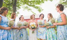 Custom Bridesmaid dresses BLUES by sohomode on Etsy, $164.00
