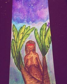 Cabocla da mata. Ainda tentando fazer aquarela. #aquarela #desenho #india #mulher #bananeira #aracaju #art #watercolor #draw