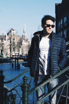 Erik in Amsterdam :) #fashion #boy #Amsterdam #style #abideless #boats #dope #menstyle #menfashion
