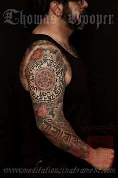 Tibetan Sleeve Tattoo by Thomas Hooper NYC - 009 - August 17, 2011