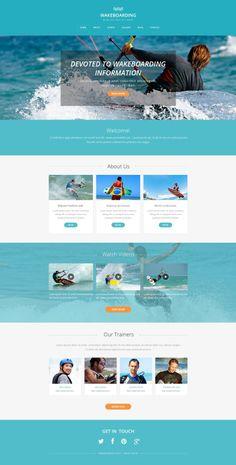 'Wakeboarding Runner' #webdesign for #Drupal Template http://zign.nl/49419