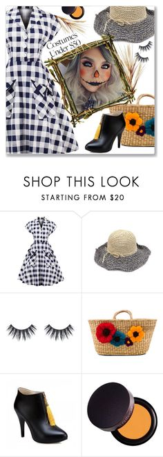 """Halloween Costumes :: Vintage Checked Dress"" by jecakns ❤ liked on Polyvore featuring Nannacay, Laura Mercier, Pier 1 Imports, vintage and halloweencostume"