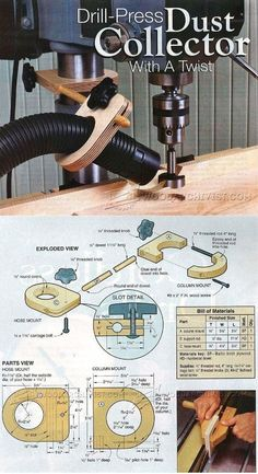 Drill Press Dust Collection Jig - Dust Collection Tips, Jigs and Fixtures | WoodArchivist.com