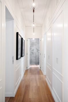 Hallway – Home Decor Designs Long Hallway, Upstairs Hallway, Hallway Closet, Bungalow Hallway Ideas, Hallway Light Fixtures, Hallway Lamp, Hall Lighting, Lighting Ideas, Entryway Lighting