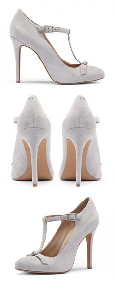 Grey Heels - amazingly feminine and versatile! I love this color for Fall and Winter.