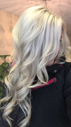 Platinum blonde with silver! This is the color of my hair now!
