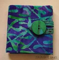 Stitch Lines: Tea Wallet - Tutorial for a Quick Easy Gift