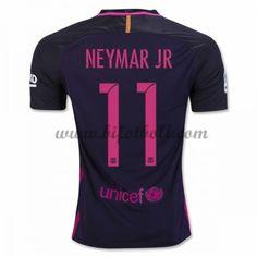 Billiga Fotbollströjor Barcelona 2016-17 Neymar Jr 11 Kortärmad Borta Matchtröja