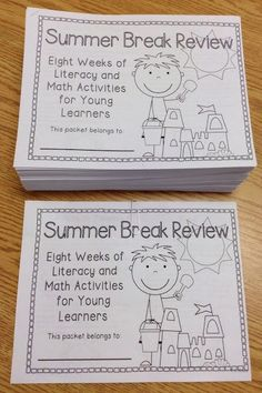 FREE Math and Literacy Summer Review Packet