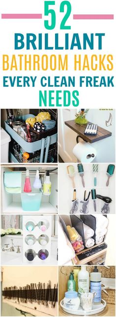 These 52 bathroom hacks are absolutely BRILLIANT! I can't wait to get started organizing!
