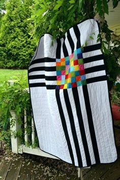 Modern Minimal Quilts Modern Minimalist Graphic Abstract Black And White Rainbow Lap Crib Quilt Modern Minimalist Quilt Patterns Modern Modern Minimalist Quilt Patterns Modern Minimal Quilt Patterns