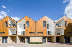Woodview Mews by Geraghty Taylor Architects (London, UK, - Parklex Facade: Copper Finish Wood Cladding, Exterior Cladding, Facade Architecture, Residential Architecture, Facade Design, House Design, Exterior Design, Architects London, Mews House