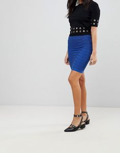 Y.A.S | Y.A.S Sesley Zig Zag Jersey Bodycon Skirt