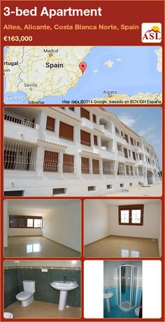 3-bed Apartment in Altea, Alicante, Costa Blanca Norte, Spain ►€163,000 #PropertyForSaleInSpain