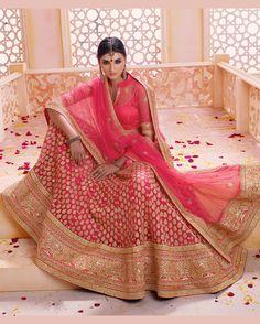 Pink Net Wedding Lehenga Choli 68819