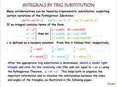 Trig Substitutions for Integrals 1