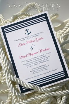Nautical Wedding Invitations by InspirationsbyAmieLe on Etsy, $50.00