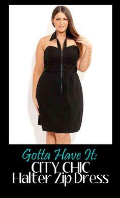 City Chic Plus Size Halter Top Dress