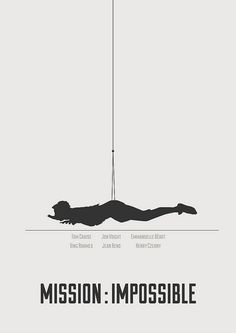 Mission : Impossible - minimalist poster by H. Svanegaard, via Flickr