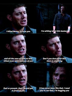 Took 8 years for Sam to admit that he felt like he let Dean down & for Dean to admit that Sam is his life! Still crying after the finale...can't believe we have til October!