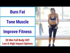 HIIT 20 minute full body HIIT workout to burn fat, build muscle, & increase fitness Hiit Workout Videos, Interval Training Workouts, Full Body Hiit Workout, Fat Burning Workout, Fitness Youtubers, Muscle Building Program, High Intensity Training, Muscle Tone, Muscle Fitness