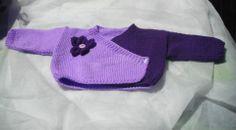Cache coeur tricoté main pour bébé : Mode Bébé par bleu-blanc-rose