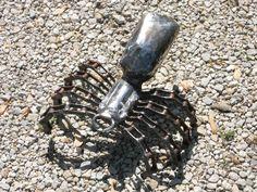 Spider Metal Sculpture Arachnid Metal Spider Garden Art Yard Art Found Objects. $68.75, via Etsy.