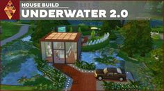 The Underwater House is the next underwater house inspired by my original Underwater house! :D Its more modern and bigger than before! Sims 4 House Plans, Sims 4 House Building, House 2, House Rooms, Sims 4 Family, Underwater House, Sims 4 Houses, Sims Ideas, House Design