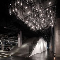Zense restaurant by Department of ARCHITECTURE, Bangkok – Thailand » Retail Design Blog Restaurant Lighting, Restaurant Design, Restaurant Lounge, Commercial Interiors, Commercial Design, Ceiling Design, Ceiling Art, Thailand Restaurant, Bangkok Thailand