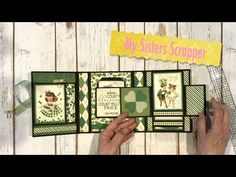 Authentique Shamrock Mini Trifold Folio - YouTube