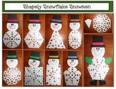 Snippy The 2D Shaped Snowflake Snowman Craftivity #TPT $paid