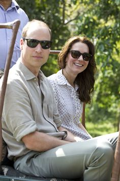 Catherine, Duchess of Cambridge and Prince William, Duke of Cambridge take a Game drive at Kaziranga National Park at Kaziranga National Park on April 13, 2016 in Guwahati, India.