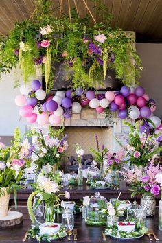 Fairy Garden Party in 2019 Madison's Garden Birthday Tinkerbell Party Theme, Fairy Birthday Party, Garden Birthday, Birthday Parties, Birthday Ideas, Elegant Birthday Party, Tangled Party, Princess Birthday, 4th Birthday