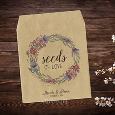 25 x Wedding Seed Packets Favor Bags Envelopes by MinikinGifts
