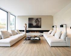 Living Room Modern, Home Living Room, Living Room Decor, Casa Kardashian, Design Living Room, Living Room With Fireplace, Luxury Home Decor, Home Interior Design, Interior Shop