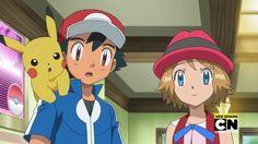 Pikachu, Ash Ketchum & Serena