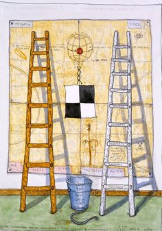 WILLIAM WILEY, Private Eyes, 2008 Watercolor and ink on paper 30 x 22 1/2 inches