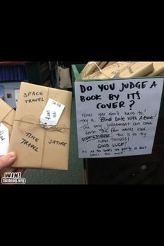 @TuscaloosaPubLibrary  Blind date with a book. Sounds like fun!!  I would totally do this!  :)