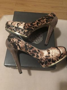 0c53c5b8812c Vince Camuto Leopard  studs Size 7.5 Heels  fashion  clothing  shoes   accessories  womensshoes  heels (ebay link)